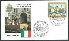 1984 VATICANO VIAGGI DEL PAPA REGGIO CALABRIA  - SV