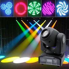 30W LED Moving Head Gobe Spot Light Pattern DMX-512 DJ Xmas Stage Light 7/10CH