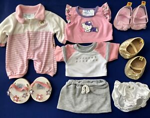 Build A Bear Workshop BBWS Hello Kitty Clothing, Accessory and Shoe 8 Item Lot