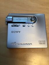 Sony Minidisc Player / Recorder Silver Mz- N10 Mdlp Net Md