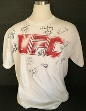 Multi Signed UFC Shirt -  Autographed by (13) Different Fighters w/ Dana White