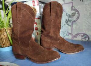 Tecovas Boots Men Western Suede Brown Shoes 1008 sz. us 11.5 D