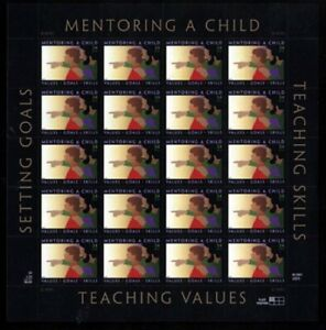 3556 MENTORING A CHILD 34c MINT SUPERB-NH SHEET
