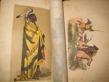 1854 NATIONS of WORLD_EGYPT_ASIA_EUROPE_AFRICA_AMERICA INDIANS_COLORED FAB BOOK