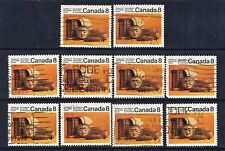 Canada #571() 1974 8 cent PACIFIC COAST INDIANS - ARTIFACTS FB 10 Used