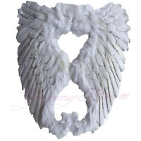 Angel Wings Fancy Dress Costume Fairy Feathers White Large Adult Party Halloween