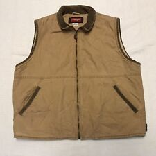 Wrangler Hero Tan Cotton Sherpa Like Lining Vest Mens Size Large J15