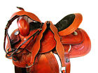 ARABIAN HANDMADE GENUINE LEATHER MATCHING TACK SET FLORAL BROWN HORSE SADDLE
