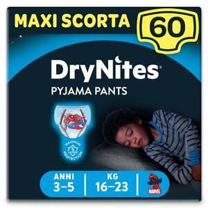 Huggies Drynites Mutandine per Bambino 3-5 anni Maxi Confezione da 60 Mutandine