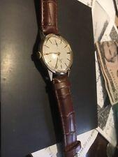 18k solid rose gold Omega case vintage  men 269 running wrist watch very nice