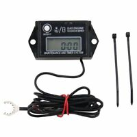 Waterproof Tiny Tach Digital Hour Meter Tachometer Resettable Job Timer Power US