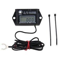 Waterproof Tiny Tach Digital Hour Meter Tachometer Resettable Job Timer Power Us