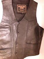 Harley Davidson Motorcycle Mens Leather Vest Size M