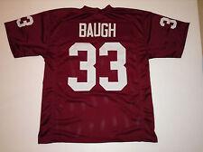 UNSIGNED CUSTOM Sewn Stitched Sammy Baugh Burgundy Jersey - Extra Large