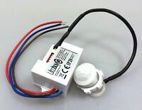 Mini Bewegungsmelder zum Einbau Sensor 230 V Unterputz für LED bis 800W PIR