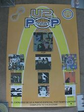 U2, Mexico Promo Poster, Popmart Tour, Record Catalog, M- 23 x 34 inches  NICE!