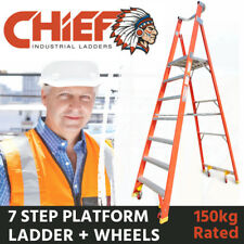 CHIEF 7 Step Fibreglass Platform Ladder