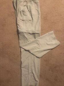 Columbia GRT Convertible Pants Men's 34 x 34 Fishing Hiking Nylon