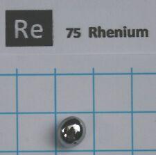 3,53 gram solid Rhenium metal pellet 99,98% pure element 75 sample