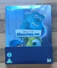 MONSTERS, INC. - LIMITED EDITION DISNEY STEELBOOK - 3D & 2D BLU-RAY NEW & SEALED