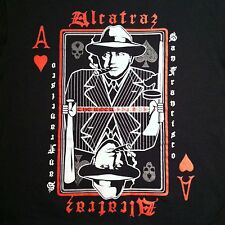 Alcatraz San Francisco The Rock T-shirt Size M Black Ace of hearts gangster