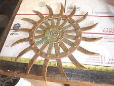New listing 2 Old Farm John Deere Spiked Wheel Garden Flower & Rustic Wall Decor Sunburst