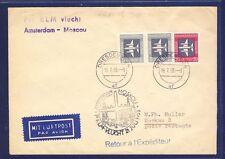 45641) KLM FF Amsterdam - Moskau 21.7.58, cover Brief ab Dresden DDR