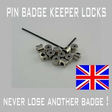 12 Locking pin backs/pin badge keepers/ savers UK supplied