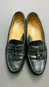 FOOTJOY BLACK LEATHER TASSEL LOAFERS VG COND SIZE 12C