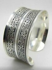 retro bohemian tibet wide cuff bangle bracelet dress jewellery gift present