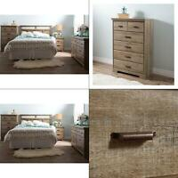 versa 5-drawer weathered oak chest | south shore wood bedroom furniture mobital