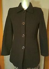 James Lakeland Woman's Virgin Brown Wool Jacket Size M UK 10/12 Made In Italy