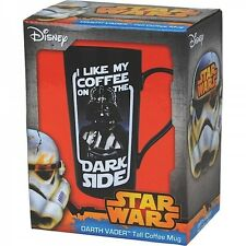 Tall Ceramic Latte Mug - Darth Vader Ceramic Mug, Boxed Mug