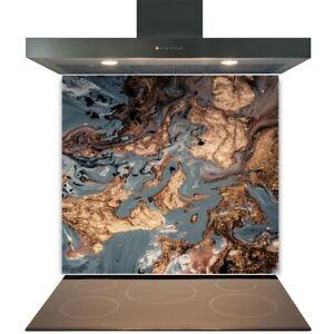 Kitchen Glass Splashback Toughened Tile Cooker Panel Any Size Gold Deluxe