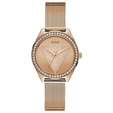 Guess Rose-Gold Tone & Crystals Stainless Steel Women's Quartz Watch W1142L4