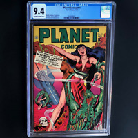 PLANET COMICS #51 (Fiction House 1947) 💥 CGC 9.4 💥 HIGHEST GRADED: 1 OF ONLY 4