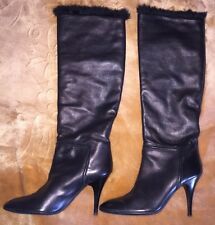 Giuseppe Zanotti  Vicini Rabbit Lined Knee boots Size 39,5 Italy