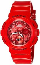 Casio Women's Baby G BGA195M-4A Red Rubber Quartz Sport Watch