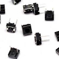 20PCS 6×6×4.3mm Tact Tactile Push Button Switch DIP-2Pin NEW