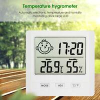 Digital Hygrometer LCD Indoor Thermometer Temperature Humidity Meter Alarm Clock