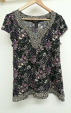 H&M Black Maternity Top Size L <J4336