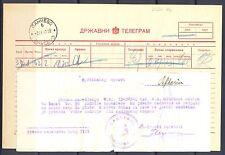 GERMANY OCCUPATION YUGOSLAVIA WW II TELEGRAM  1942 - BANTSCHOWA -