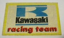 VECCHIO ADESIVO MOTO / Old Sticker Motorcycle KAWASAKI RACING TEAM (cm 6x4)
