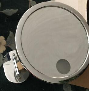 NEW Baci Remcraft Lighted Single Arm Wall Mirror - M3 - Chrome