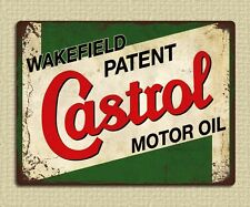 metal sign plaque vintage retro style Castrol motor oil garage tin 20 x 15cm