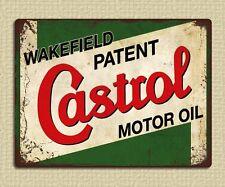 metal sign plaque vintage retro style Castrol motor oil garage tin 20 x 15cm