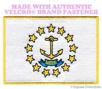 RHODE ISLAND STATE FLAG PATCH new EMBROIDERED APPLIQUE w/ VELCRO® Brand Fastener
