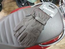 Vespa Cross Over Leather Gloves - Brown - XS-XL - Genuine / Original Product