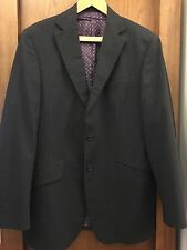 M&S Navy Stripe Suit Jacket - 40""