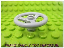 New LEGO Minifigure STEERING WHEEL Ferrari Technic Light Bluish Gray 3 Stud Diam